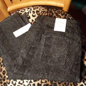 Liz Claiborne Multi Grey Slim Leg Jean NWT